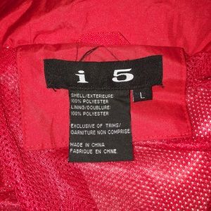 i5 Jackets & Coats - Red and White Rain Jacket/Windbreaker